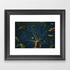 Golden Framed Art Print