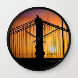 New York Sunset 8 Wall Clock