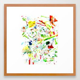 Challigraphy in nature Framed Art Print