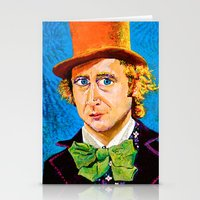 willy wonka Stationery Cards featuring Wonka by Jordan Soliz