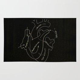 Black heart Rug