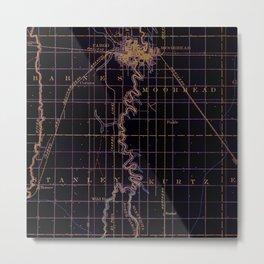 Fargo old map year 1895, united states vintage maps Metal Print