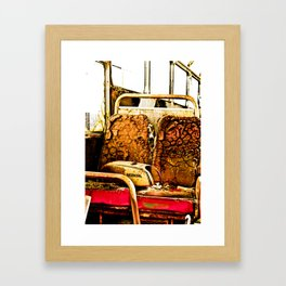 This seat is taken. Framed Art Print
