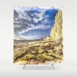 Birling Gap And Seven Sisters Art Shower Curtain