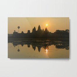 Angkor Wat Temple sunrise Metal Print