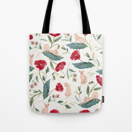 Ramona Poppy off-white Tote Bag