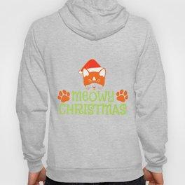Cat Christmas Hat Miau Christmas Gift Hoody