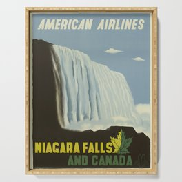 Vintage poster - Niagra Falls and Canada Serving Tray