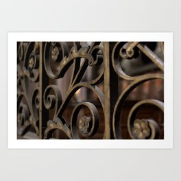 Fer forge at Notre Dame de Paris Art Print