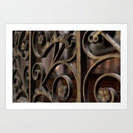 Fer forge at Notre Dame de Paris Art Print