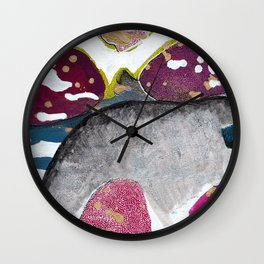 Just Float Hand Painted Acrylic Abstract Wall Clock