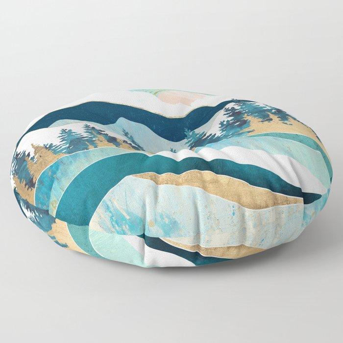 Summer Forest Floor Pillow