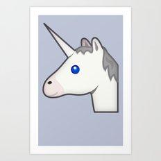Unicorn emoji Art Print