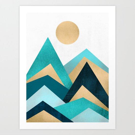 Waves / Version 2 Art Print
