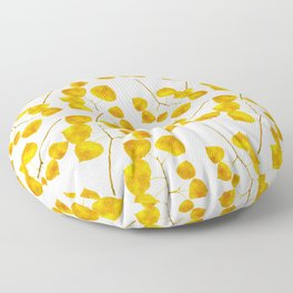 Gold Leaf Art Floor Pillow