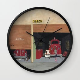 The Old Firehouse Wall Clock