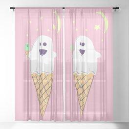 Spooky Scoops Sheer Curtain