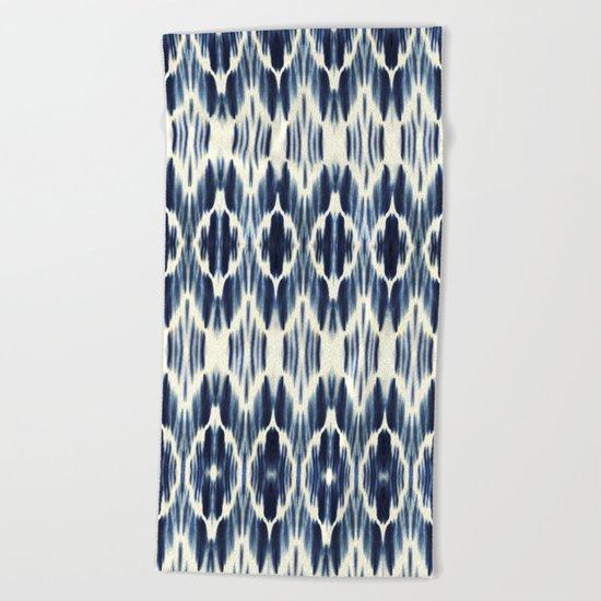 BOHEME INDIGO BLUE Beach Towel