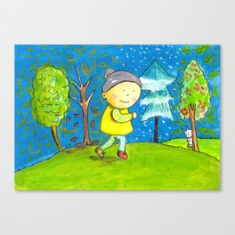 Run in every season of your life! Canvas Print