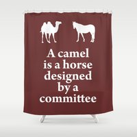 camel Shower Curtains featuring Camel by cocksoupart