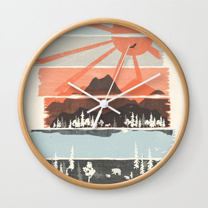 Morning by Bear River... Wall Clock