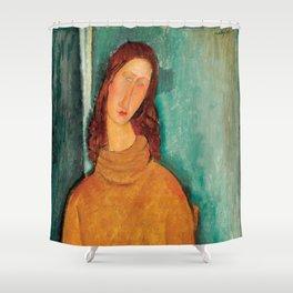"Amedeo Modigliani ""Jeanne Hebuterne in a Yellow Jumper"" Shower Curtain"