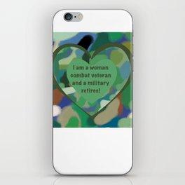 Woman Combat Veteran and Military Retiree iPhone Skin