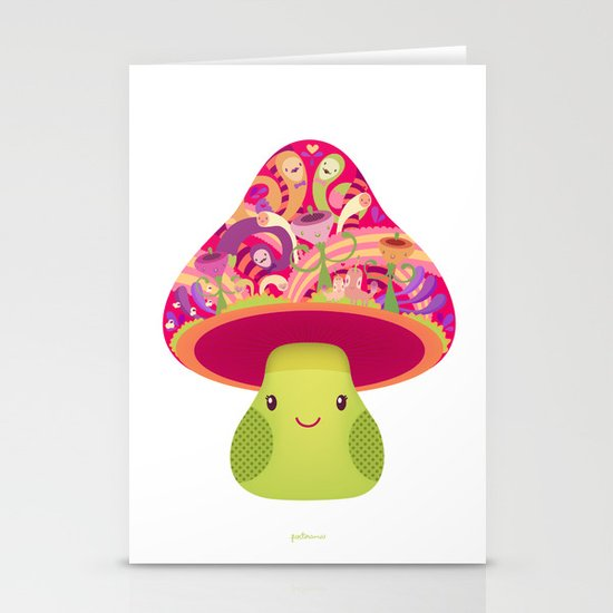 Mrs. Shroom Stationery Cards