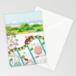 At the Luna Park Stationery Cards