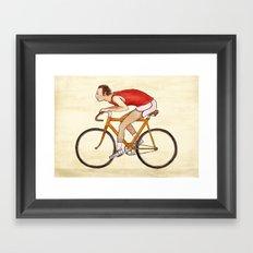 Peludo en bici Framed Art Print