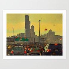 Friday Night Traffic Art Print