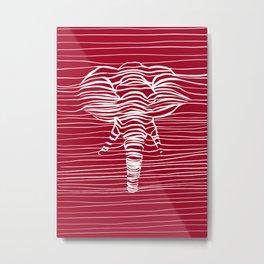 Elephant lines Metal Print