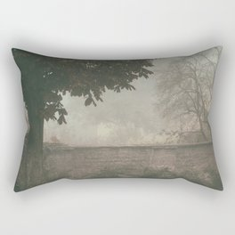 The wall behind the tree Rectangular Pillow