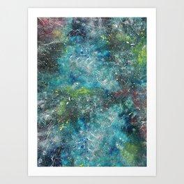 A galactic ocean - Painting Art Print
