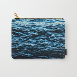 Sea Water Undulation Surface Texture Carry-All Pouch