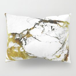 Gold-White Marble Impress Pillow Sham