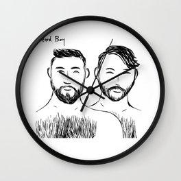 Beard Boys 3 Wall Clock