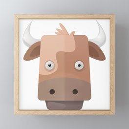 The Cow of Videos Manguis Framed Mini Art Print