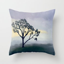 Winter Morning Mist Throw Pillow