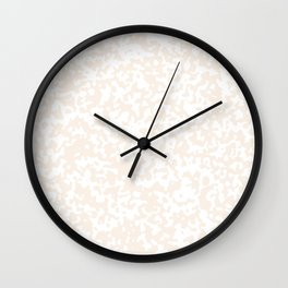 Small Spots - White and Linen Wall Clock