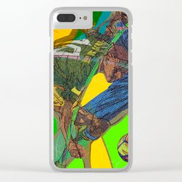 Soccer Party Clear iPhone Case