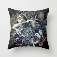 The Hunt Deux Throw Pillow