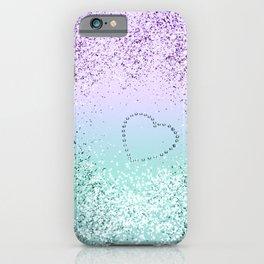 Sparkling MERMAID Girls Glitter Heart #1 #decor #art #society6 iPhone Case