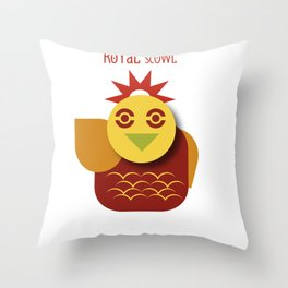 Royal scowl Throw Pillow