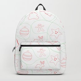 Christmas pattern on red, green and white colors Backpack