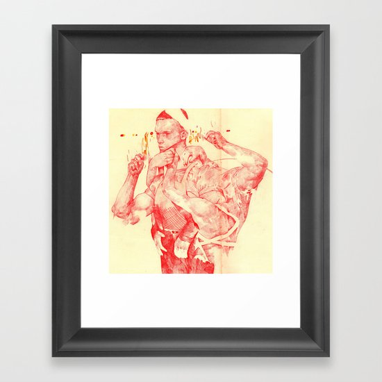 T-800 Framed Art Print