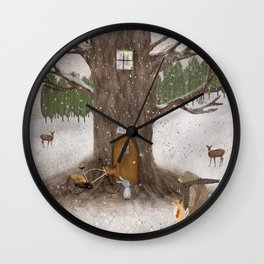 merry berry wood Wall Clock