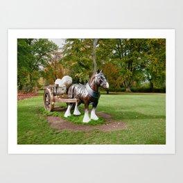 The Waddesdon Horse Art Print