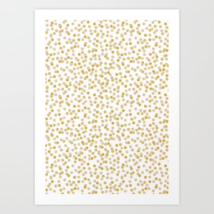 GOLD CONFETTI Art Print