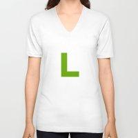 luigi V-neck T-shirts featuring Luigi by Jynxit